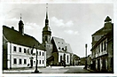 Das Stadtzentrum mit Rathaus Marktplatz und Kirche